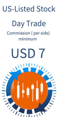 US-listed Stock min. commission low as USD 7